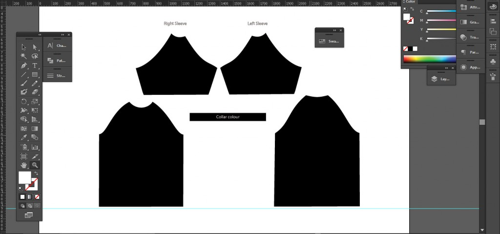 All Over Printed Shirt Template Layout Download